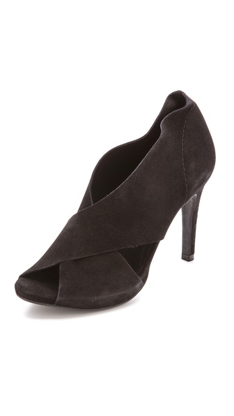 Pedro Garcia Serenity Open Toe Pumps - Black