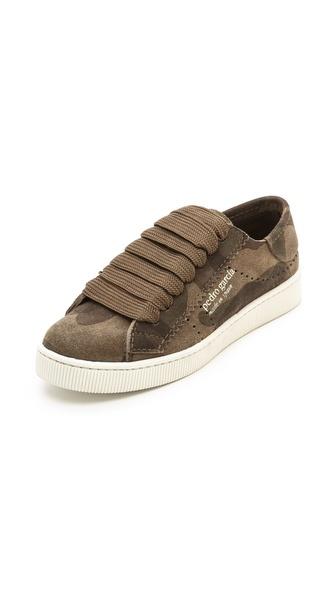 Pedro Garcia Perry Camo Suede Sneakers - Olive Camo