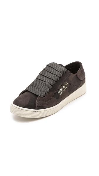 Pedro Garcia Perry Camo Suede Sneakers - Gunmetal Camo