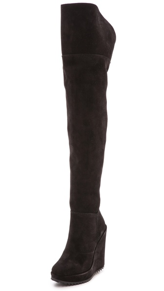 Pedro Garcia Vanne Over The Knee Boots - Black