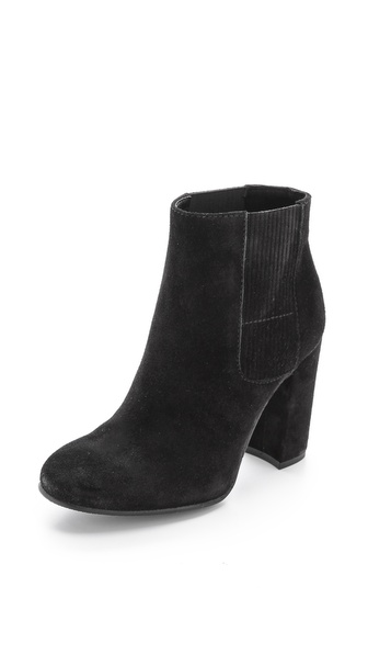 Pedro Garcia Binder Suede Booties - Black