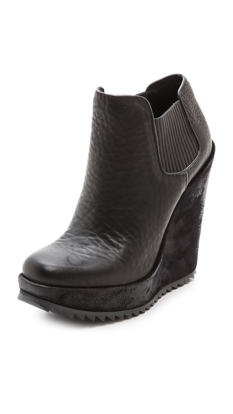 Pedro Garcia Virna Wedge Booties - Black
