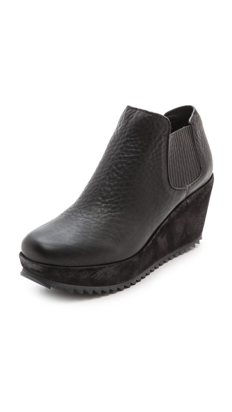 Pedro Garcia Fern Wedge Booties - Black