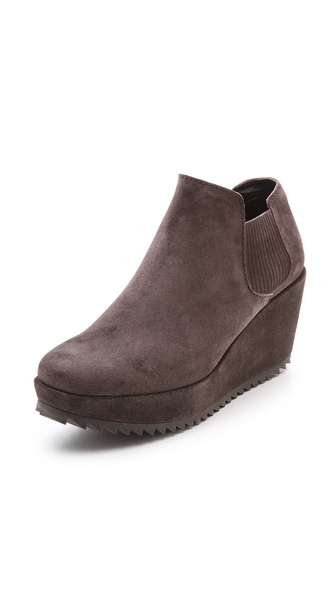 Pedro Garcia Fern Wedge Booties - Silt