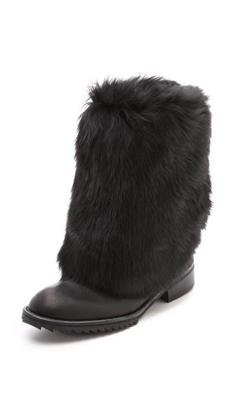 Pedro Garcia Odette Fur Lined Boots - Black
