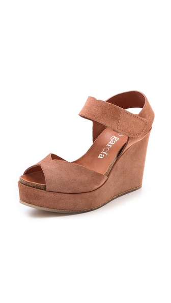 Pedro Garcia Maby Wedge Sandals - Adobe