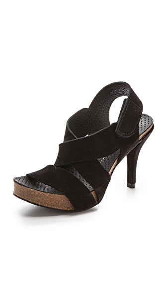 Pedro Garcia Laila Suede Sandals - Black