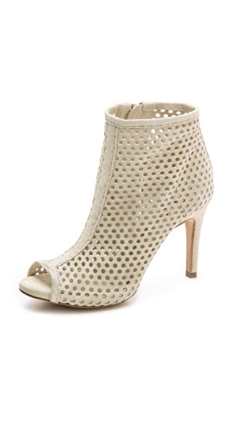 Pedro Garcia Sylvana Suede Perforated Booties - Stone