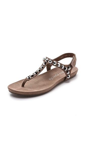 Pedro Garcia Judith Suede T Strap Sandals - Nut