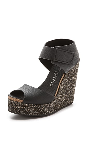 Pedro Garcia Triana Wedge Sandals - Black