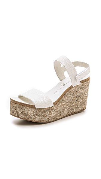 Pedro Garcia Dulce Wedge Sandals - White