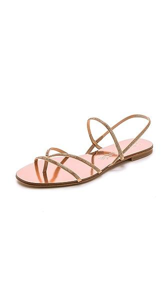 Pedro Garcia Ebbie Embellished Sandals - Rose Gold