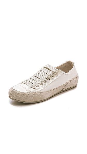 Pedro Garcia Parson Satin Sneakers - Ivory