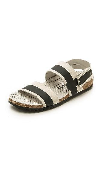 Pedro Garcia Alana Flat Sandals - Stone