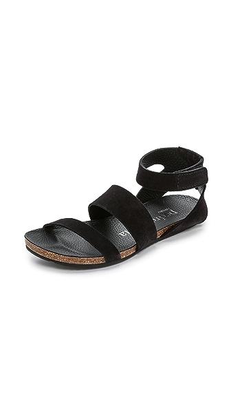 Pedro Garcia Vero Suede Sandals - Black
