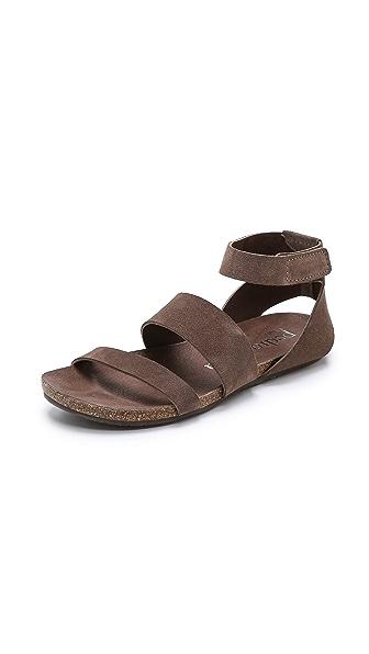 Pedro Garcia Vero Suede Sandals - Nut