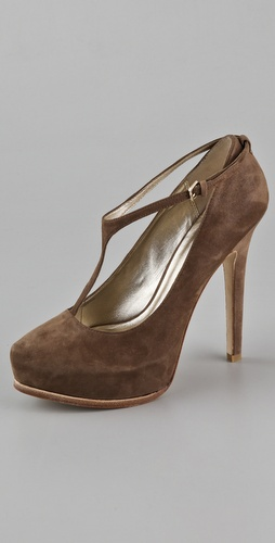 Pelle Moda Page Suede T-Strap Pumps
