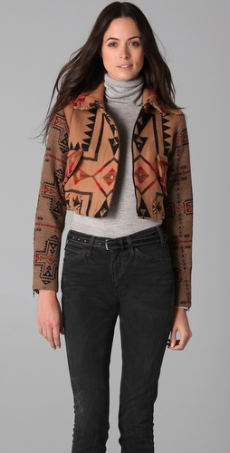 Pendleton for Opening Ceremony Cropped Bomber Jacket