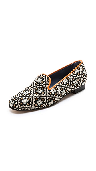 Penelope Chilvers Dandy Needlepoint Slippers