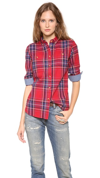 Penfield Haverhill Plaid Button Down