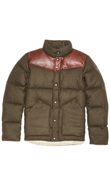 Penfield Gillman Tweed Melton Puffer Coat