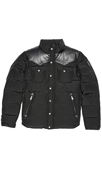 Penfield Stapleton Down Jacket with Leather Yoke