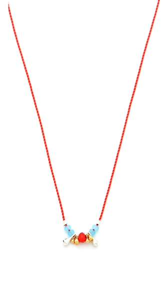 Petite Grand Multi Bead Cord Necklace