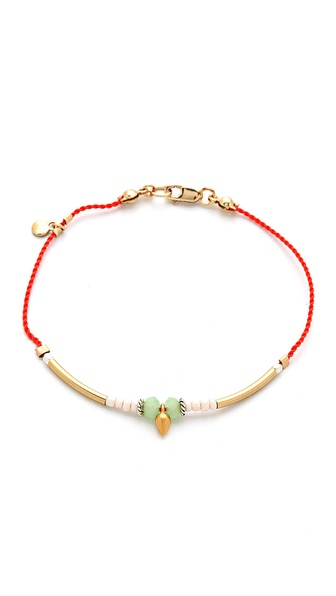 Petite Grand Cord Tube and Bead Bracelet