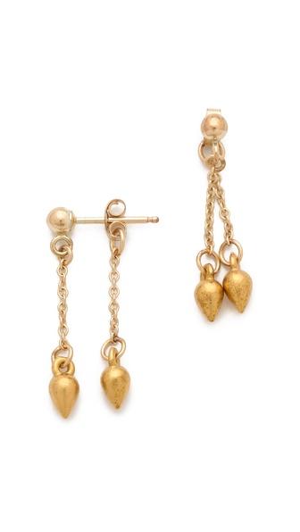 Petite Grand Double Drop Pear Earrings