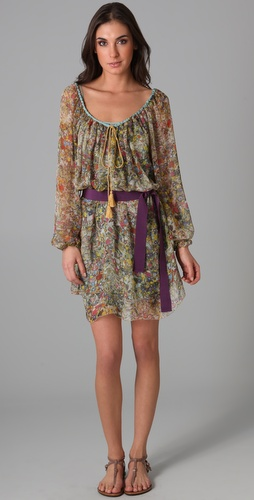 PHILOSOPHY DI ALBERTA FERRETTI Long Sleeve Belted Dress