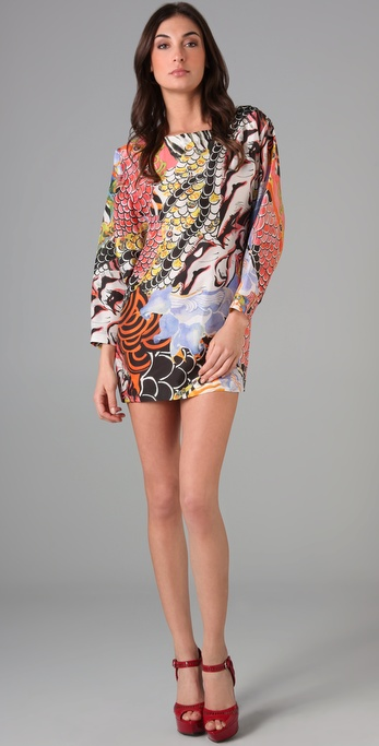PHILOSOPHY Print Dolman Sleeve Dress