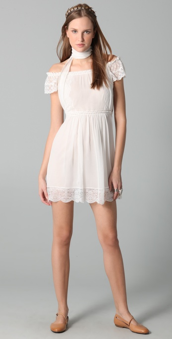 PHILOSOPHY Open Shoulder Mini Dress