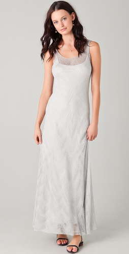 PHILOSOPHY DI ALBERTA FERRETTI Metallic Maxi Dress