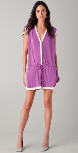 PHILOSOPHY DI ALBERTA FERRETTI Romper with White Trim