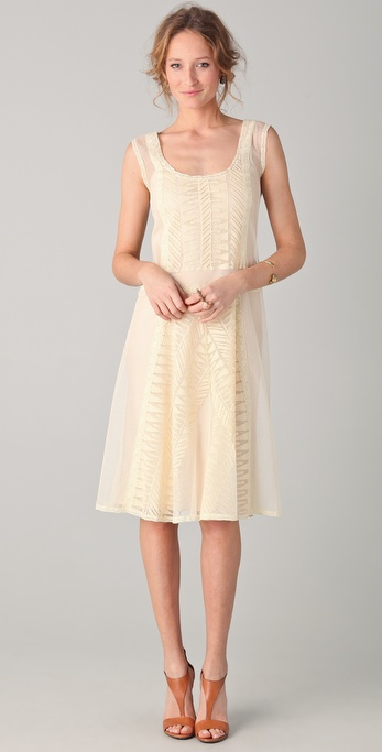 PHILOSOPHY Embroidered Tulle Dress