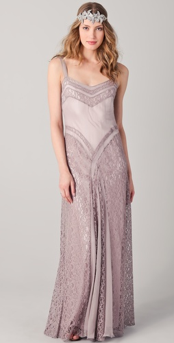 PHILOSOPHY DI ALBERTA FERRETTI Long Lace Dress