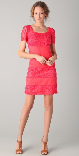 PHILOSOPHY DI ALBERTA FERRETTI Short Lace Dress