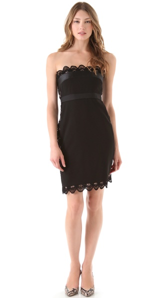 PHILOSOPHY Strapless Lace Dress