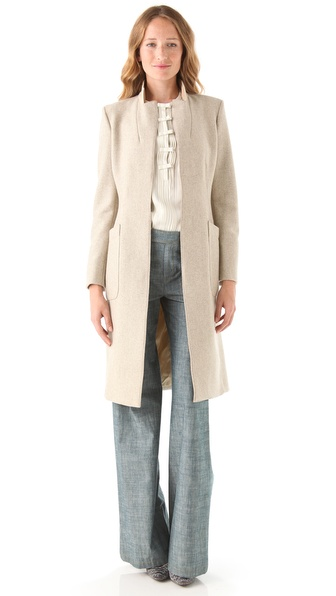 PHILOSOPHY DI ALBERTA FERRETTI Herringbone Tweed Coat