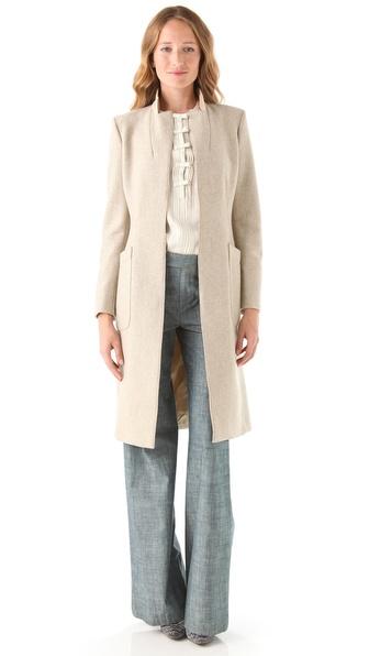 PHILOSOPHY Herringbone Tweed Coat