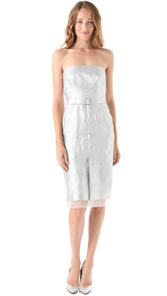 PHILOSOPHY Strapless Jacquard Dress