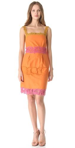 PHILOSOPHY DI ALBERTA FERRETTI Lace Trim Shift Dress