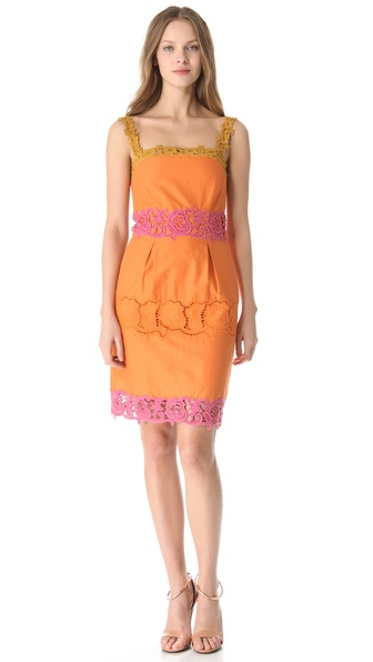 PHILOSOPHY DI ALBERTA FERRETTI Lace Trim Shift Dress