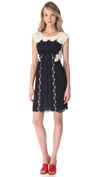 PHILOSOPHY DI ALBERTA FERRETTI Lace Applique Dress