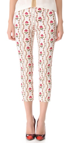 Shop PHILOSOPHY DI ALBERTA FERRETTI Floral Printed Pants and PHILOSOPHY DI ALBERTA FERRETTI online - Apparel,Womens,Bottoms,Pants,Trousers, online Store