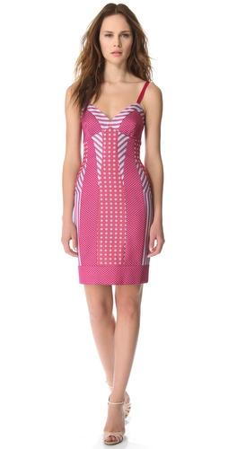 PHILOSOPHY DI ALBERTA FERRETTI Sleeveless Striped Dress