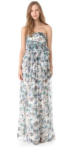 PHILOSOPHY DI ALBERTA FERRETTI Floral Chiffon Gown