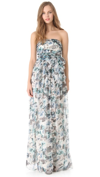 PHILOSOPHY DI ALBERTA FERRETTI Floral Chiffon Gown