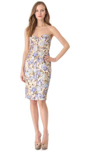 PHILOSOPHY DI ALBERTA FERRETTI Strapless Floral Dress