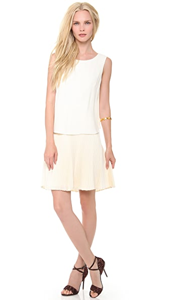 PHILOSOPHY Sleeveless Pleated Dress